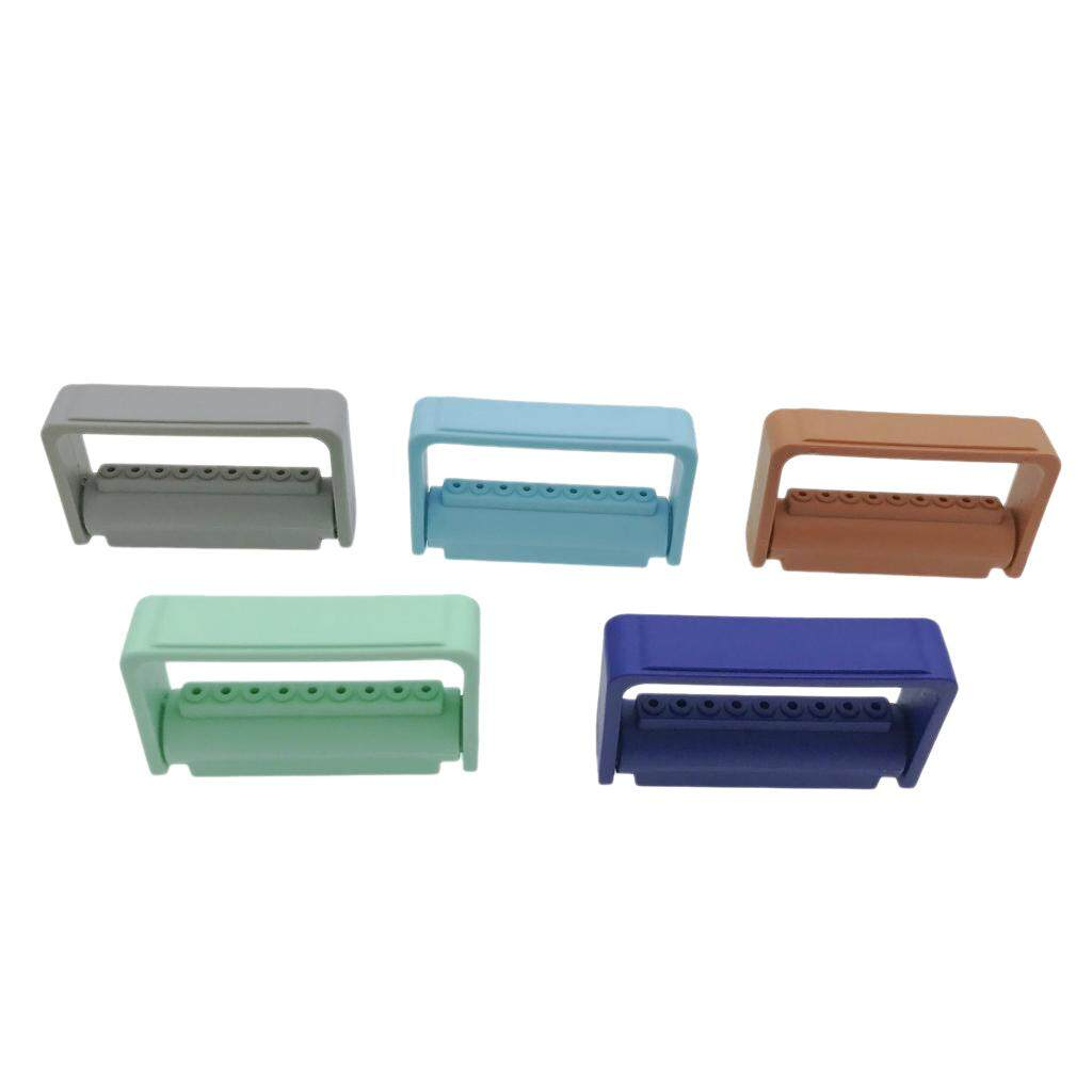 Miracle Shining 5 Pieces 9 Holes Endo Bur Files Block Holder Stand Autoclave Box