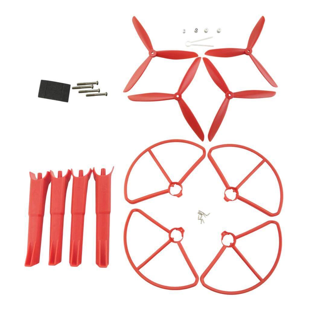 BolehDeals Plastic 3-Leaf Screw Propeller Landing Gear Protective Cover Ring Set for MJX B2