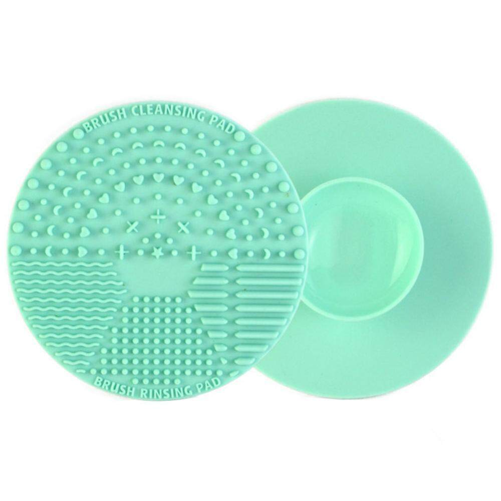 3 Colors Round Makeup Brush Cleaner Silicone Mat Cleansing Pad Cosmetic Scrubber Board Tool Philippines