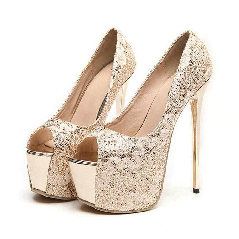 768918932082 Fashion Casual Women High Heel Sandals Sexy Thin Heel Peep Toe Wedding  Party Pumps Stiletto Platform