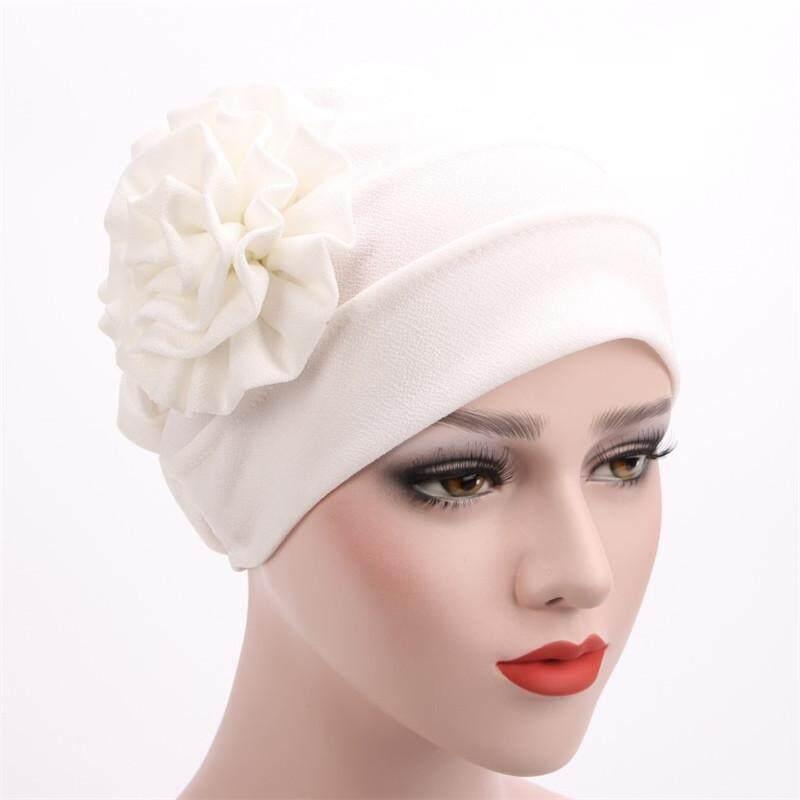 RHS Online Bunga Lipit Merenggang Sandaran Kepala Bahan Katun Topi Lilit Topi Sorban Pembungkus Rambut Cap-Intl