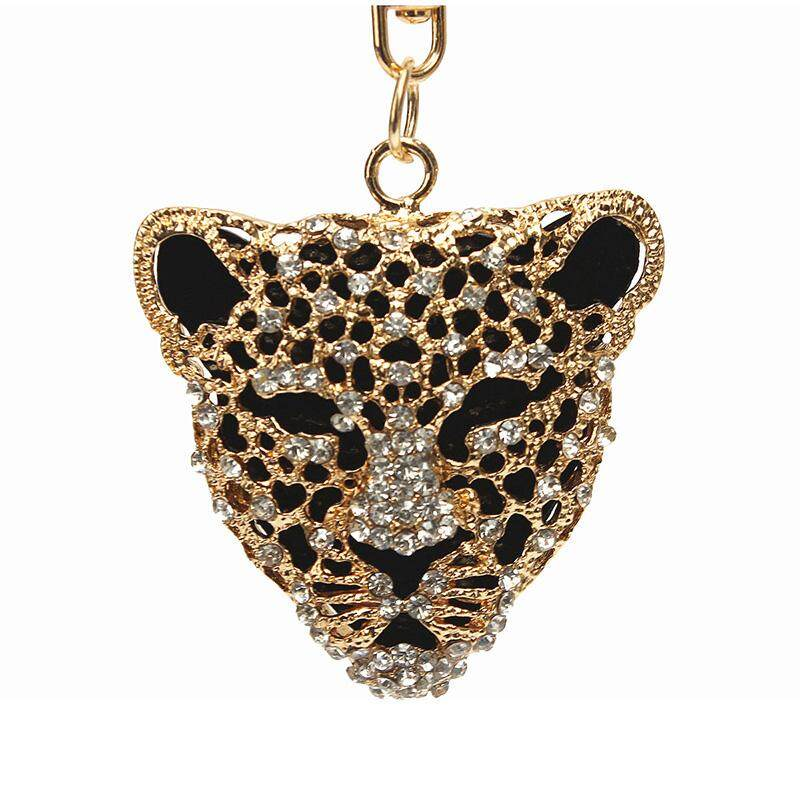 Macan Tutul Berlian Imitasi Gantungan Kunci Kristal Liontin Pesona-Intl