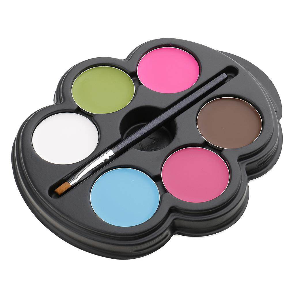 MagiDeal Adult Kids 6 Color Face Body Paint Palette Kit Halloween Party Costume Fancy Dress Makeup