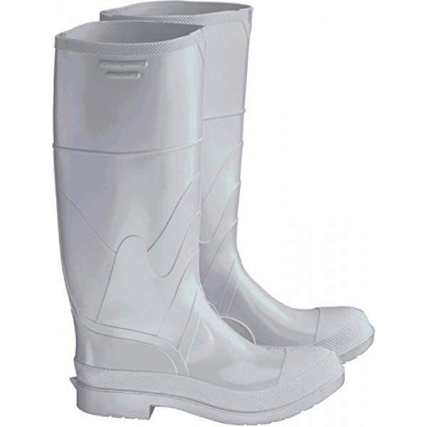 Bata Shoe 81012-11 Onguard Industries Size 11 White 16 PVC Knee Boots With Safety-Loc Outsole, Steel Toe And Removable Insole, English, 15.34 fl. oz., Plastic, 16