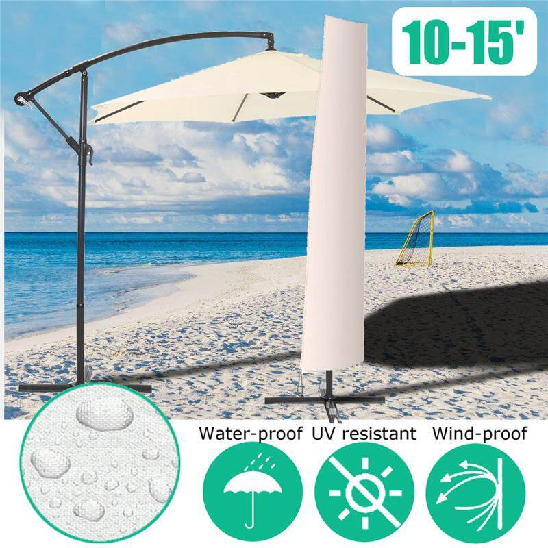 10-15 Patio Umbrella Protective Cover Winter Outdoor Waterproof Parasol Protect - intl