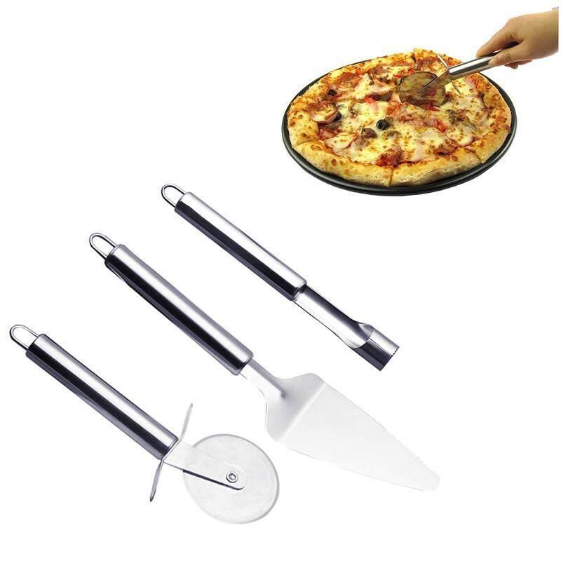 Teekeer Pemotong Piza Set-Baja Anti Karat Ultra Bilah Tajam & Sekop dan Buah untuk Alat Nuklir untuk Pizza Panggang dan Kue Di Oven & grill (3 Pack) -Intl