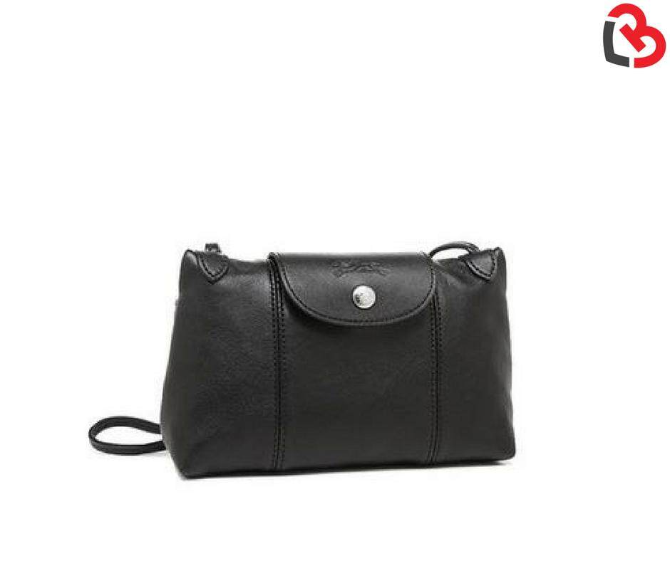 [PRE ORDER] [GENUINE] LONGCHAMP Le Pliage Cuir Crossbody Bag Black