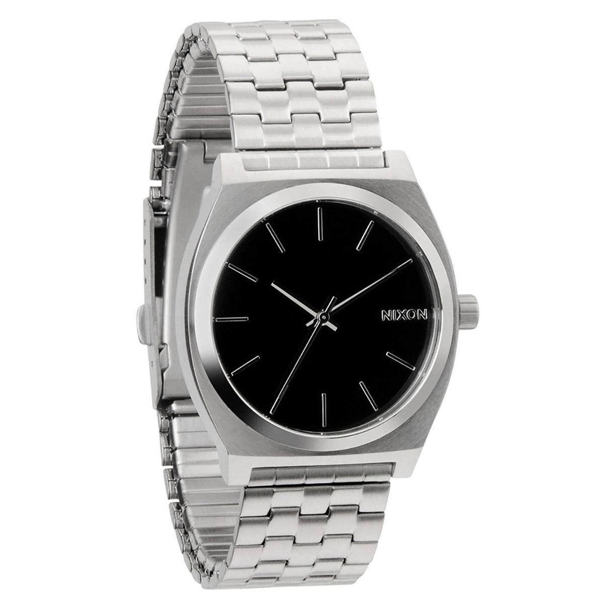 Nixon Time Teller Silver Stainless-Steel Case Stainless-Steel Bracelet Mens A045000