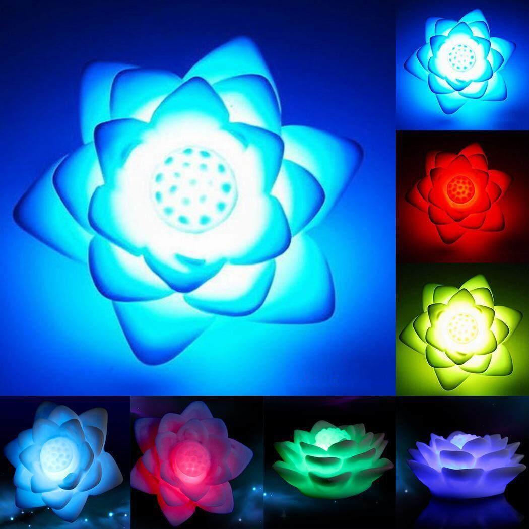 Toprank Lucu Lotus Bentuk LED Lampu Malam Lampu Warna Berubah Hadiah  Mainan-Intl 524c5d7f83