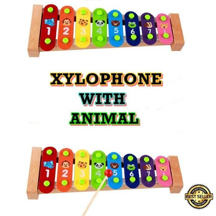 Xylophone With Animal - Plain / Strawberry - Random Design