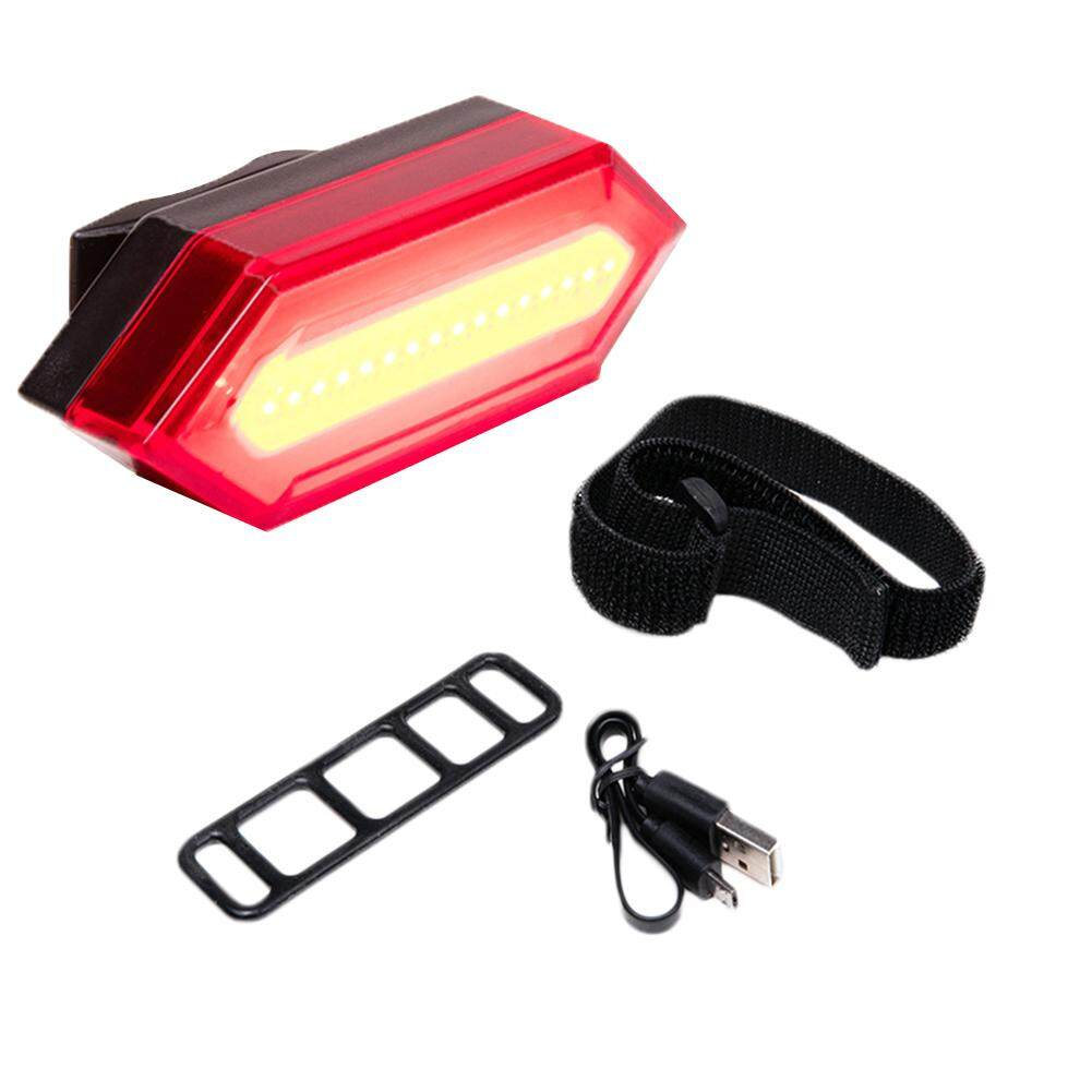 LumiParty USB Charging Bike Folding Lamp Riding Accessory Equipped with Red Taillight Mountain Bike Warning Light