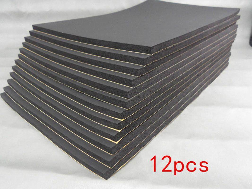 12pcs 50cm X 30cm Car Auto Van Sound Proofing Deadening Insulation 10mm Closed - Intl By The First Store.