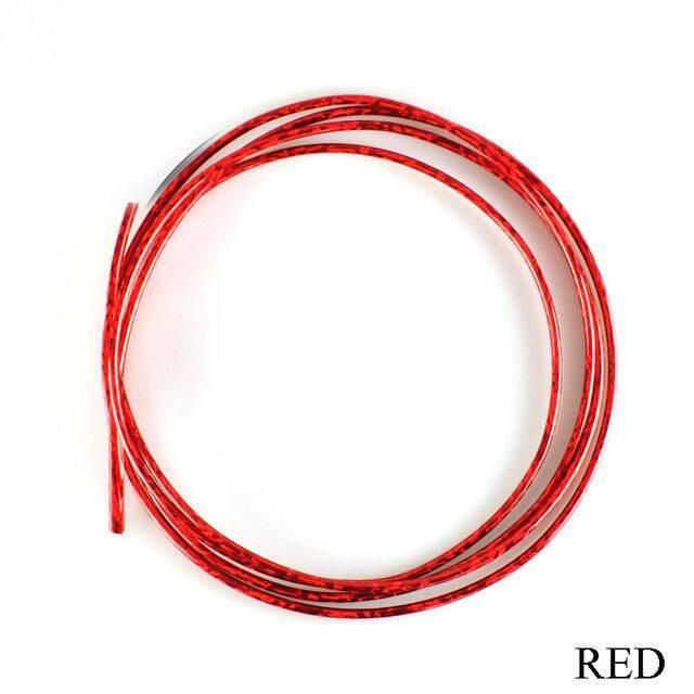 Mainan Yang Indah 3 M Mobil Styling Otomotif Dekorasi Strip Alat Mobil AC Outlet Blade Kisi-kisi Krom Bar Merah