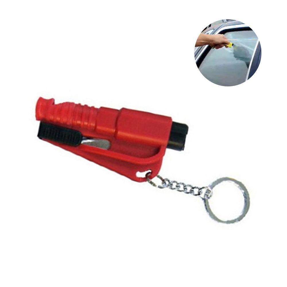 Leegoal Mobil Penyelamatan Darurat Alat Melarikan Diri Palu Keselamatan Kursi Pemotong Sabuk Kaca Gantungan Kunci Pemecah (7.5*3.5 Cm)