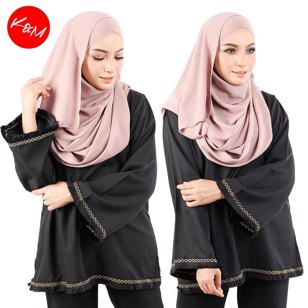 KM Muslimah Lively Solid Blouse [M15465]