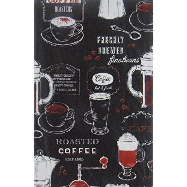 Freshly Brewed Roasted Coffee Vinyl Flannel BackTablecloths