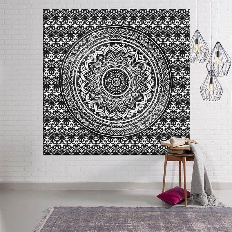 Indian Mandala Wall Art Hippie Wall Hanging Bohemian hippie Bedspread Home Decor for Living Room Bedroom Dorm Room Beach Towel 203x150cm - intl