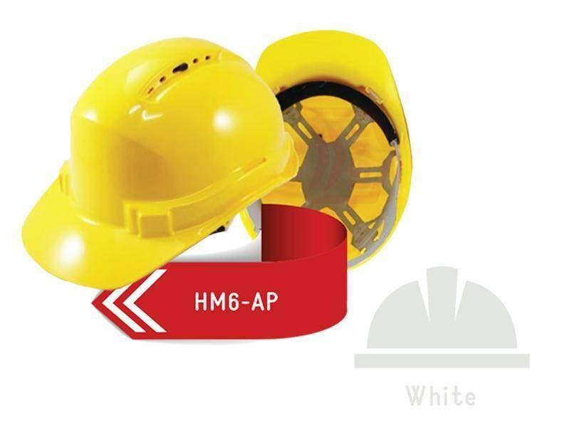 ISAF Industrial Safety Helmet c/w Pinlock, Sweatband & Chinstrap - White