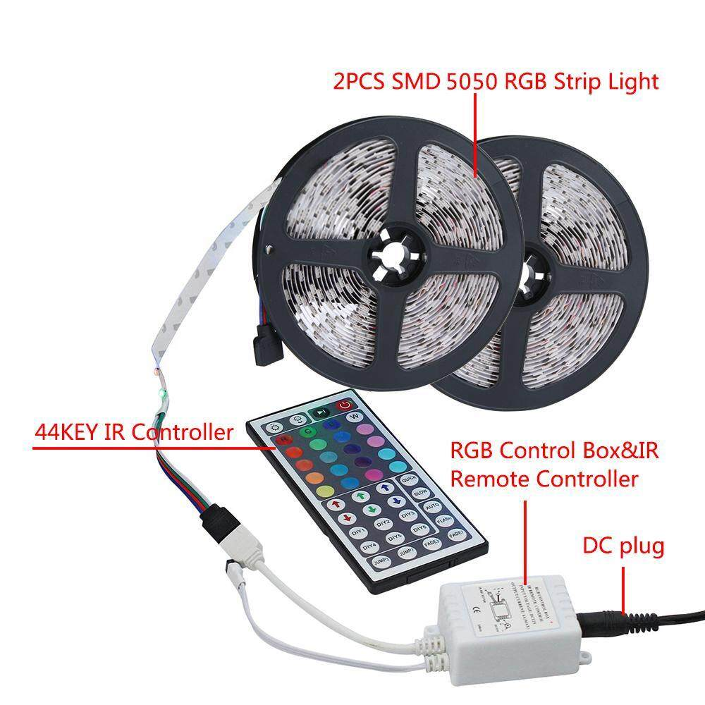 Home Led Strip Lighting Buy At Best Price Control Leds On Off With Ir Remote And Arduino P Marian Infrared Hosdog Lights Kit 10m 328ft 5050 Smd 600leds Rgb Color Changing Flexible