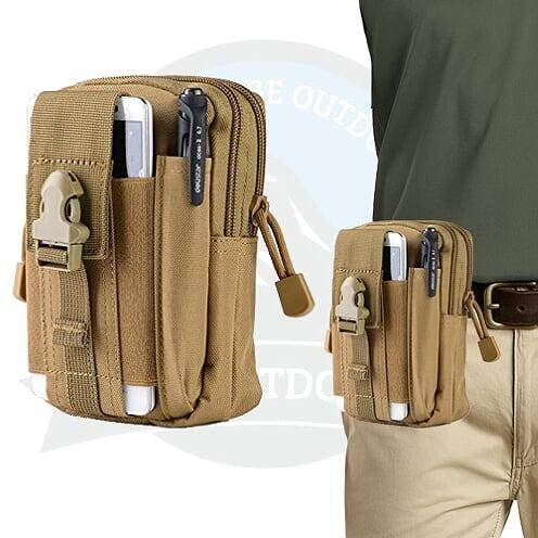 [ LOCAL DELIVERY ] TACTICAL POUCH - MULTIFUNCTION TACTICAL LARGE CAPACITY POUCH - RUGGED BROWN