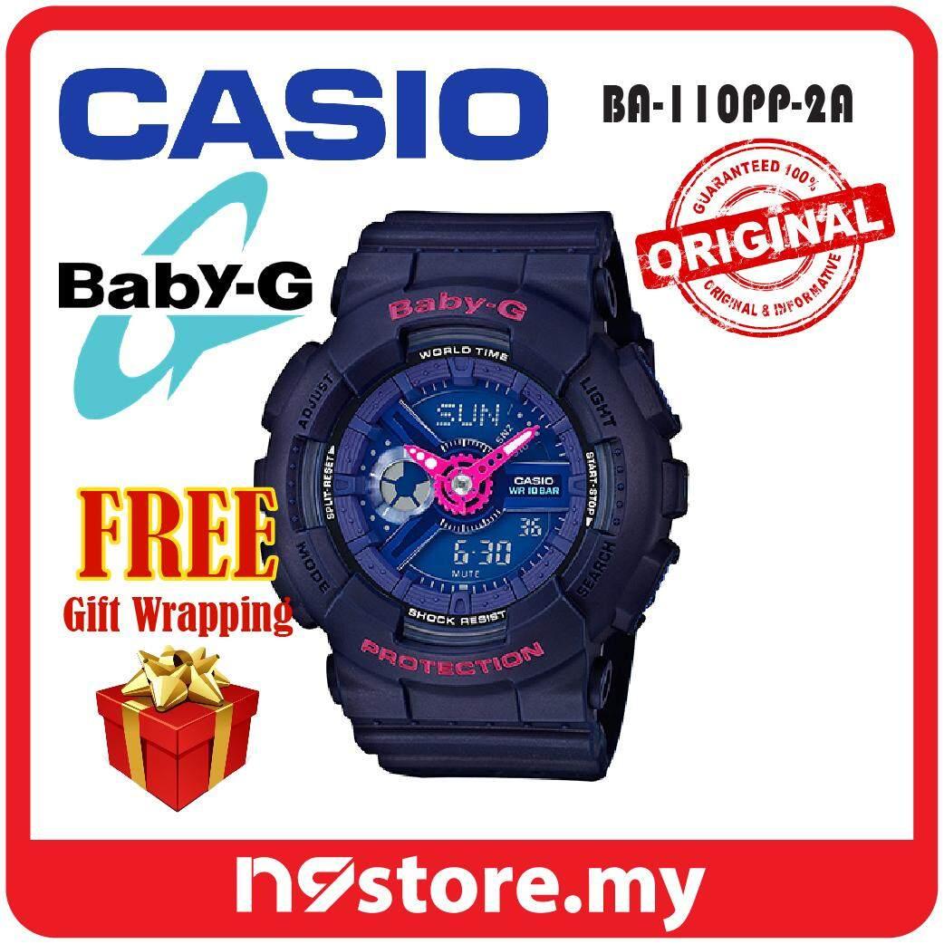 Casio Baby-G BA-110PP-2A Analog Digital Ladies Sports Watch