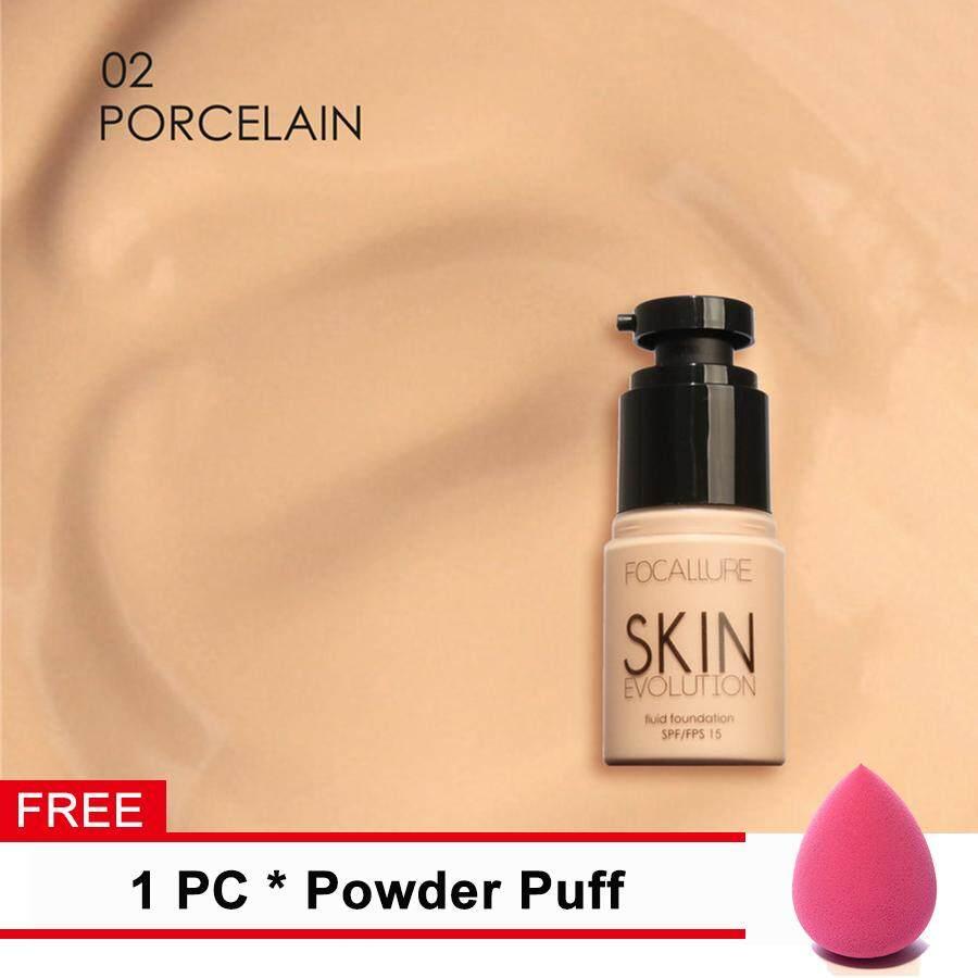 [Hadiah Gratis] Focallure Krim Dasar Wajah Melembabkan Memutihkan Concealer Kamuflase Fondasi Berbahan Cair Makeup