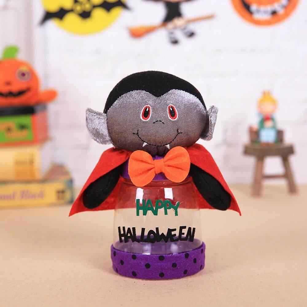 Permen Halloween Jar Halloween Kotak Hadiah Halloween Kue Bisa Novelty Plastik Transparan Cokelat Kantor