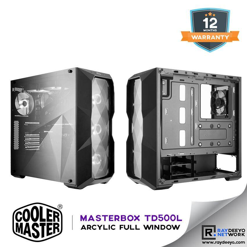 Cooler Master MasterBox TD500L Diamond Cut Design Gaming Case [ATX, Matx, Mini-ITX] Malaysia