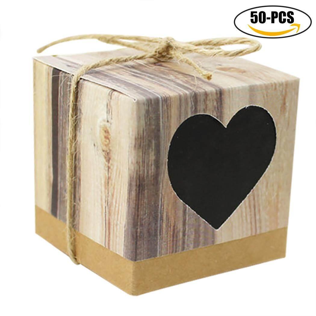 50 Pcs Pernikahan Kebaikan Permen Kotak Kreatif DIY Mini Pernikahan Treat Kotak Permen Kotak Kardus-Internasional