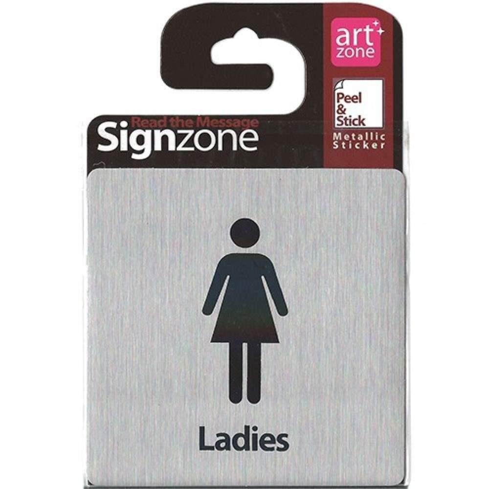 Signzone Peel & Stick Metallic Sticker - Ladies (Item No: R01-30)