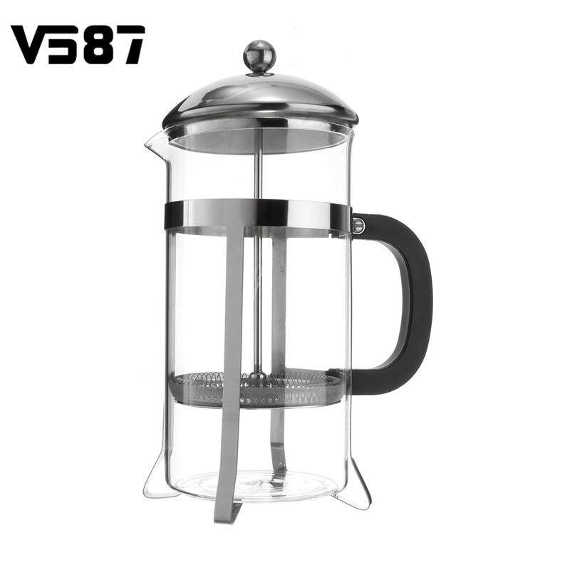 1 Litre French Press Stainless Steel Cafetiere Filter Coffee Maker