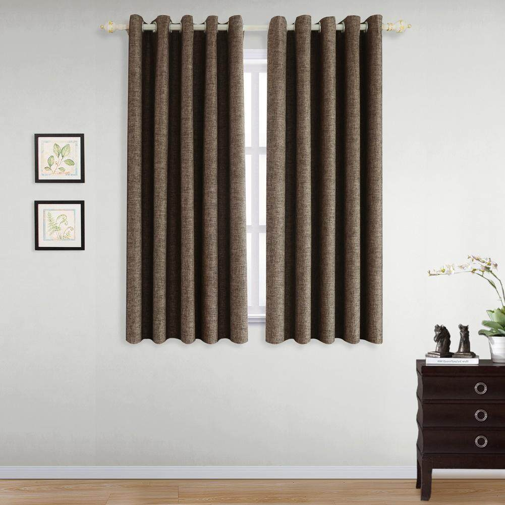 NAPEARL bedroom fashion solid color bedroom short 80% blackout minimalism curtain