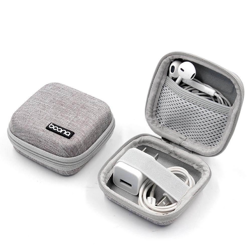 c5c637100dfb Aolvo Portable Travel Carrying Headphones Case Hard EVA Case Earphone  Storage Box USB Cable Organizer -