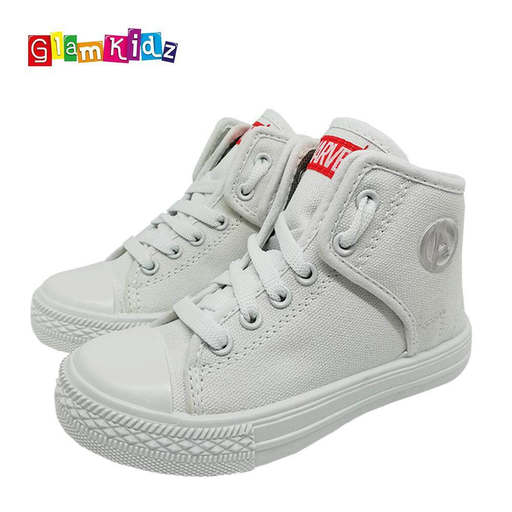 GlamKidz Marvel Avengers High Tops Sneakers (White) #1120