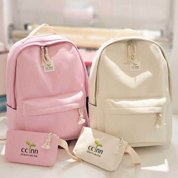No Good No Money Day Of Female Of Canvas Backpack Hg In Current Senior High School In Han Ban Livings A Shoulder Bag Female Travel Bag Beginning High School Students Schoolbag By Liaozhang.