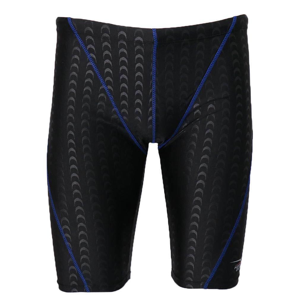 ff2166b75a73d MagiDeal Men's Boys Swimmers Swimming Swim Trunks Boxer Shorts Pants L Blue  Line