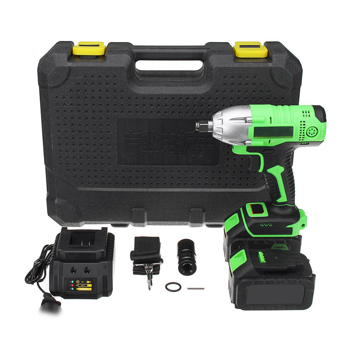 10800mAh 2 Li-Ion Battery Charger Brushless Cordless Impact Wrench W/BOX 108V