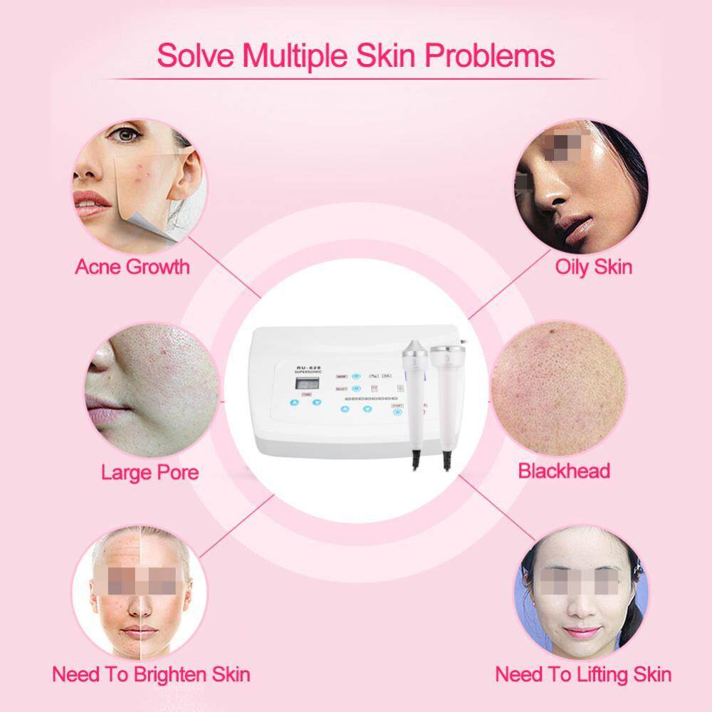 Ultrasound Skin Rejuvenation Ultrasonic Anti Aging Facial Wrinkle Removal Beauty Device EU Plug