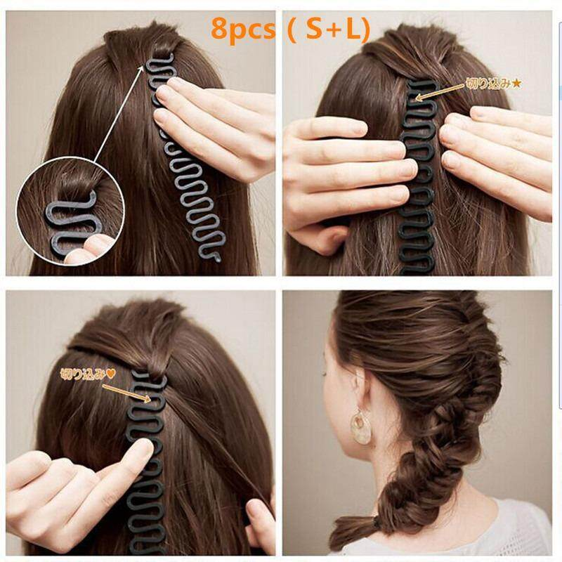 Chux 8pcs Hair Braiding Tool Weave Braider Roller Hair Twist Styling Diy Hairstyling Accessories By Chux.