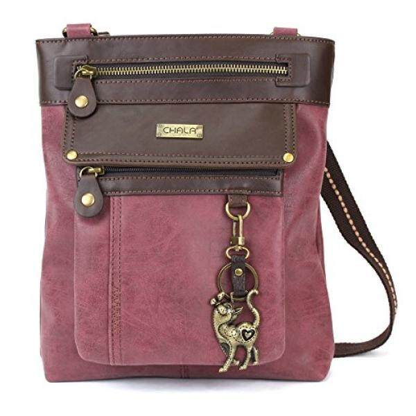 Chala GEMINI Crossbody Canvas Gift Messenger Bag (Slim Cat - Burdy) - intl 445953804ca30