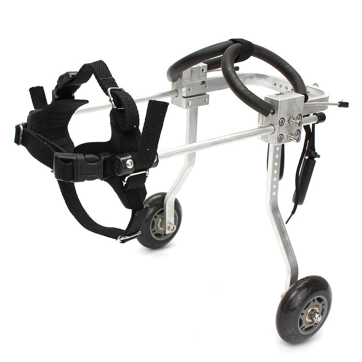 ลดสุดๆ 2 Wheel Adjustable Pet Dog Cat Wheelchair Walk for Handicapped Doggie Puppy Cart