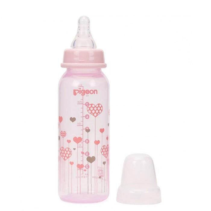[NEW DESIGN] Pigeon Premium Clear PP Slim Neck Bottle 8oz/240ml with M Size Teat