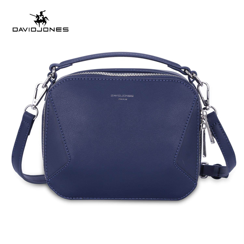 DAVIDJONES women crossbody bag pu leather female shoulder bag small lady  patchwork handbag girl casual messenger 7aa98ae84a