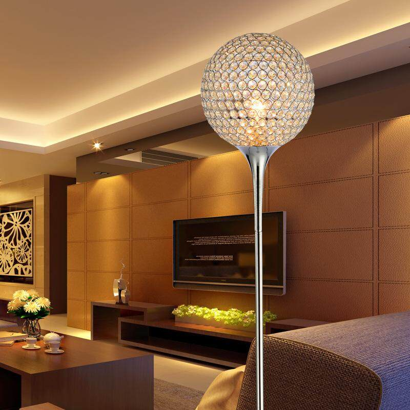 New Modern Floor Lamps Novelty Crystal Decor Lamp E27 110-220V