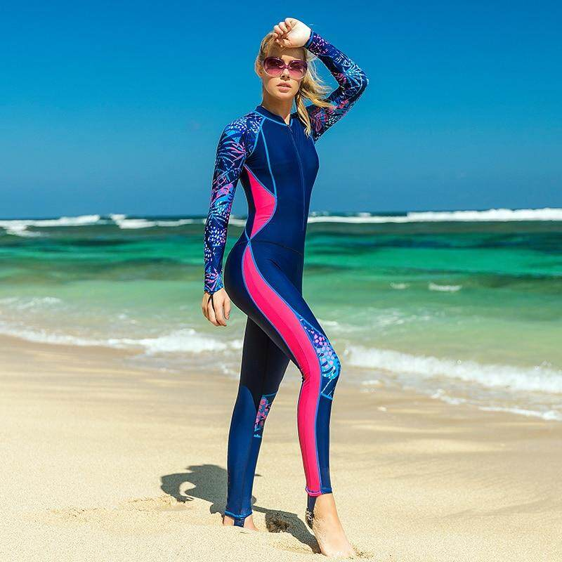 SBART Women Slim Wetsuits One Piece Swimwear Surfing Diving Swimsuits  Swimming Bodysuit 1203 da1f8ad58