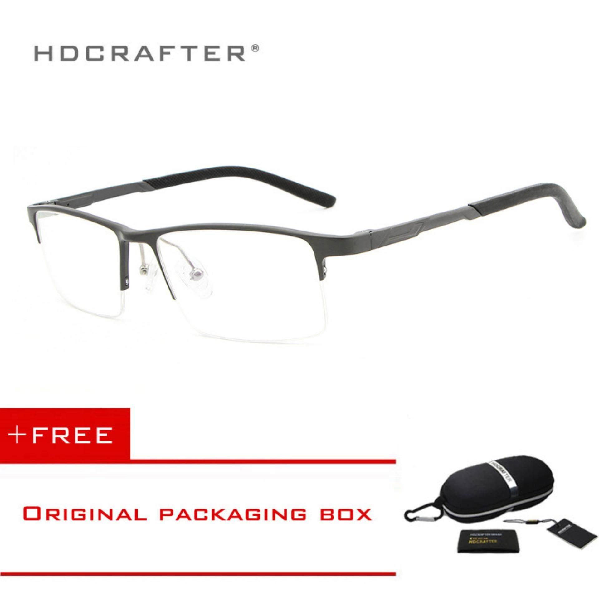 HDCRAFTER New Design Aluminum Magnesium Ultra-light Glasses Computer Goggles Anti Fatigue Radiation-resistant