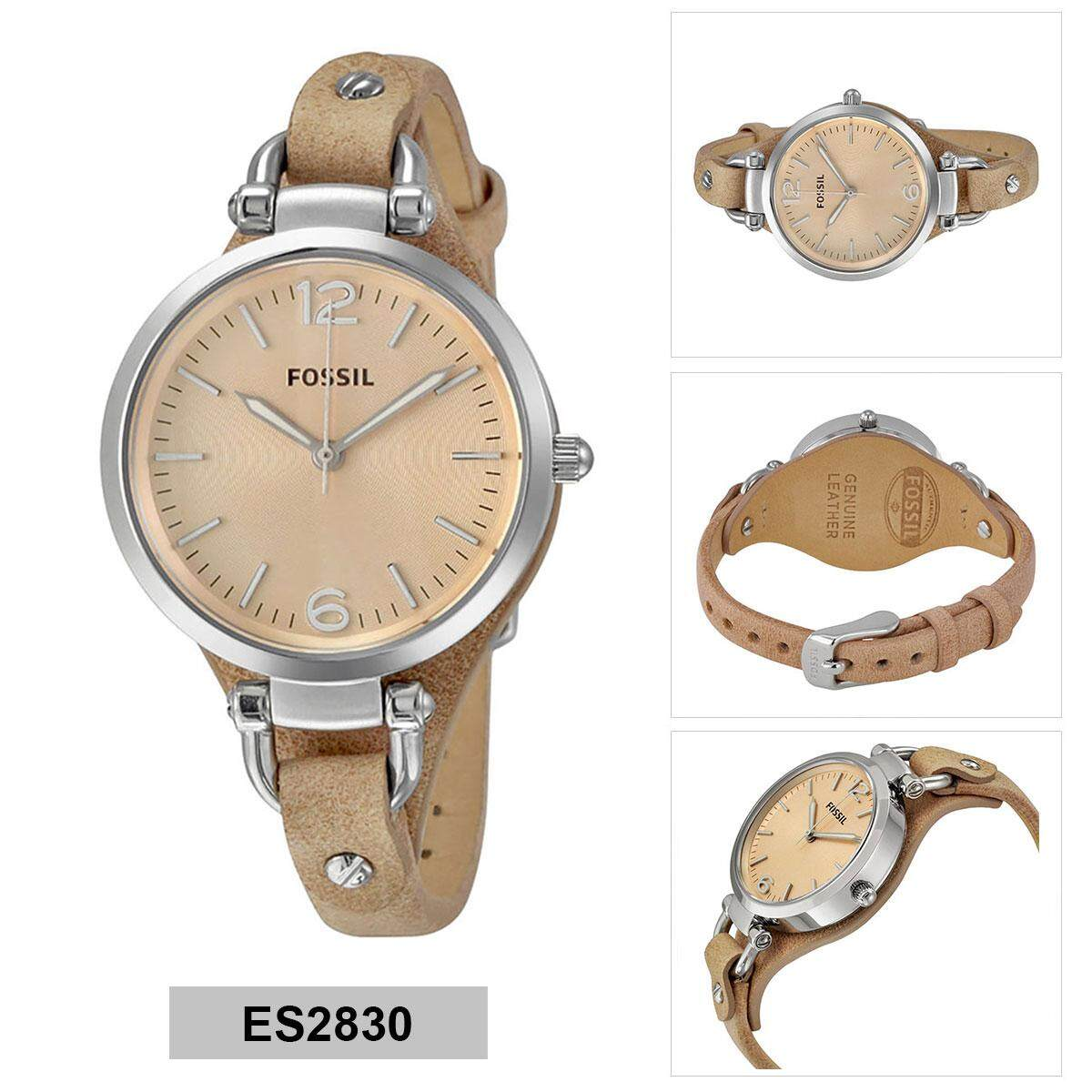 Fitur Fossil Es2830 Analog Peach Dial Womens Watch Dan Harga Terbaru Es3707 Jacqueline Gray Leather Rose Gold Georgia Brown Stainless Steel Case Strap Ladies