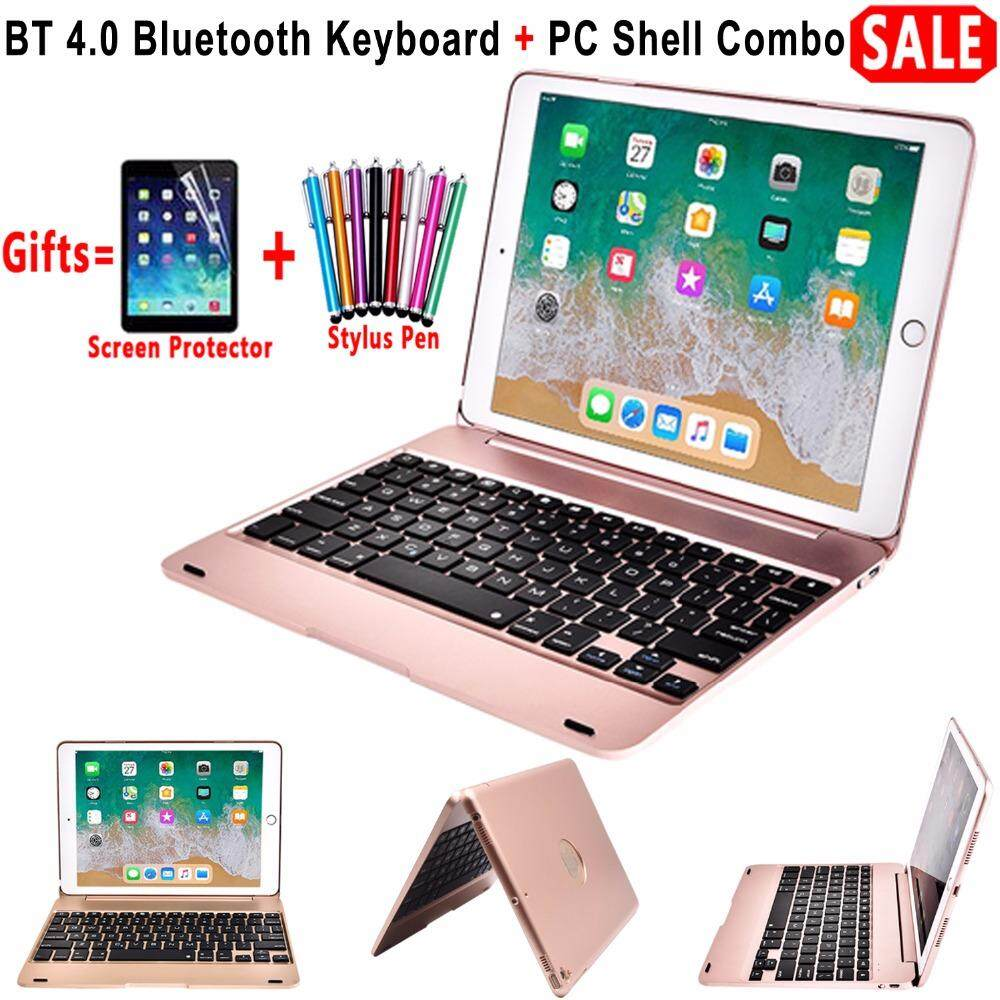 5288efdcacb New For iPad 9.7 2017 2018 A1893 Wireless Bluetooth Keyboard Case Cover For  iPad 5 /
