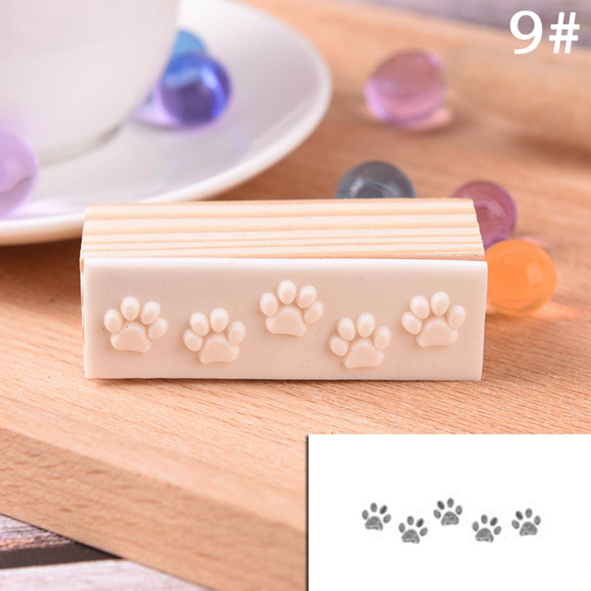 Hình ảnh Chic Flower Lace Wooden Rubber Stamp Letters Diary Craft Scrapbooking Type 9