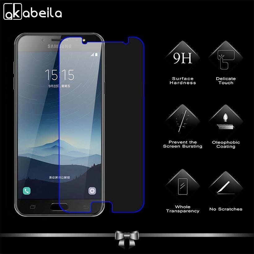 Akabeila 2 Pcs untuk Samsung Galaxy C7 2017 J7 Plus J7 + C710F/DS C8 C7100 5.5 Inch Tinggi Quaity kaca Antigores Smartphone Pelindung Layar Film